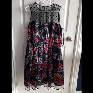 Floral Patterned Party Dress